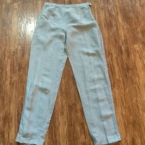MaxMara Grey Linen and Silk Pants 12 (fits 8/10)